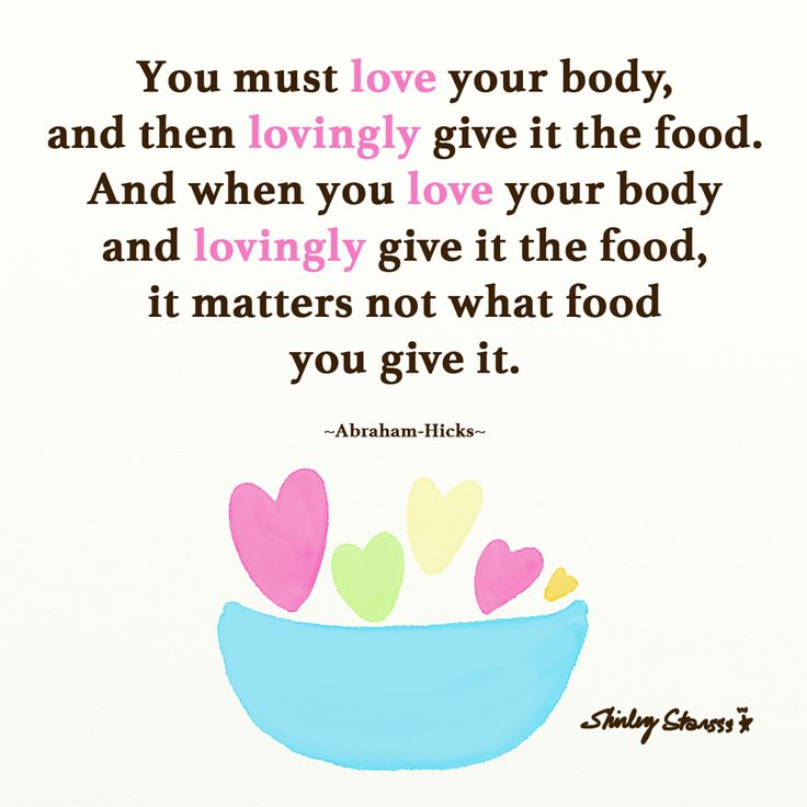 Abraham Hicks Healthy Food