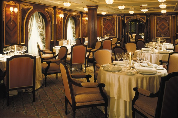 The Celebrity Millenium's Olympic restaurant...(extra charge) - this is the same wood paneling design used on the Titantic and it's sister ship The Olympic.  Amazing food.