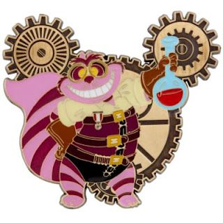 Cheshire Cat Steampunk Disney Pin - I want this pin!  Can't wait to be able to do more trading :)