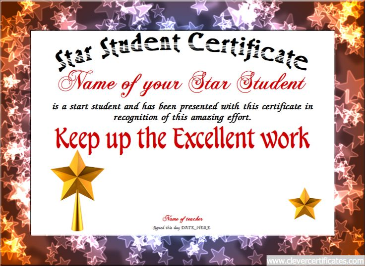9 best parents templates images on pinterest parents and texts the star student certificate template lets you create downloadable printable and shareable star student certificate yelopaper Image collections
