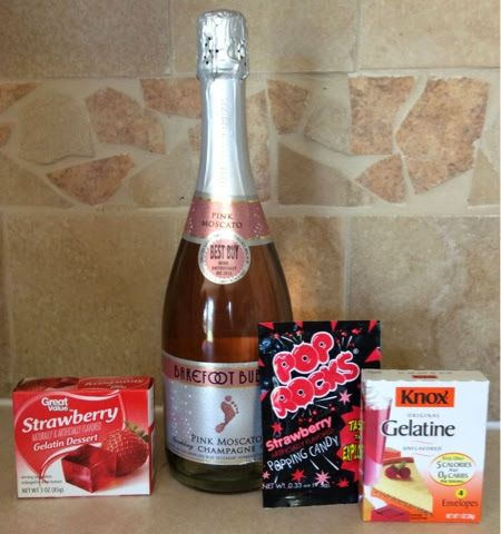 Navigating Through Life, One Pin At A Time : Champagne Jello Shots Topped With Pop Rocks