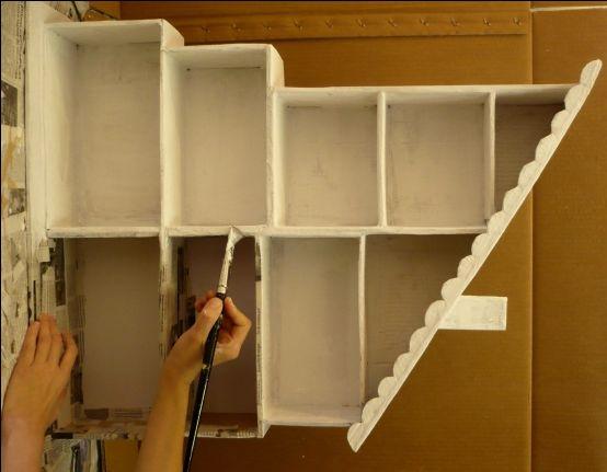 casita de muñecas con cajas de zapatos.
