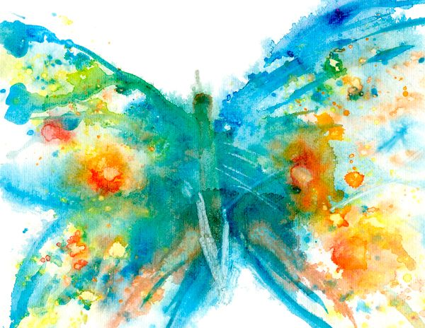 Abstract butterfly watercolour painting by artist for How to paint abstract with watercolors
