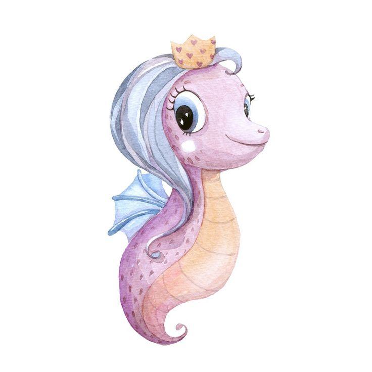 """Привет! Я- маленькая Морская Пони, рада с вами познакомиться! Обожаю море, плавать и водные игры. Я самая красивая морская жительница:) Люблю соленое мороженое! И еще я украшаю чудесную одежду BAMBINIC в коллекции """"Морские каникулы"""" Ищите меня на BAMBINIC.RU!  #bambinic #морскаяпони # иллюстрация #illustration #pony #mylittlepony #морскойконек #sea #seahorse #watercolor #character #ДАВАЙ_ДРУЖИТЬ_BAMBINIC"""