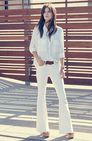 Leith Shirt & Articles of Society Flare Jeans available at #Nordstrom  #Text2buy and Opt into quick and easy style tips from your favorite style expert 516-900-7288
