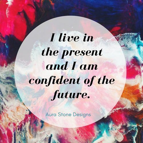 Affirmation: I live in the present and I am confident of the future.   All Aura bracelets come with affirmations matched to the intent and metaphysical properties of the natural stones.