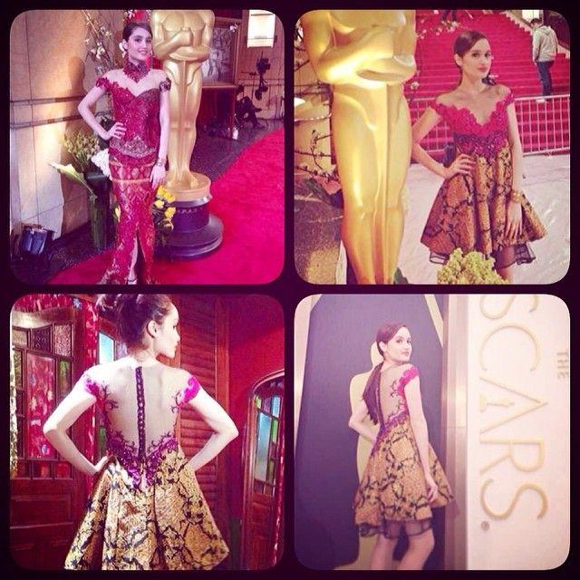 Busana designed by Anne Avantie - Cinta Laura  #Oscar2014  #AnneAvantie  | OnInStagram