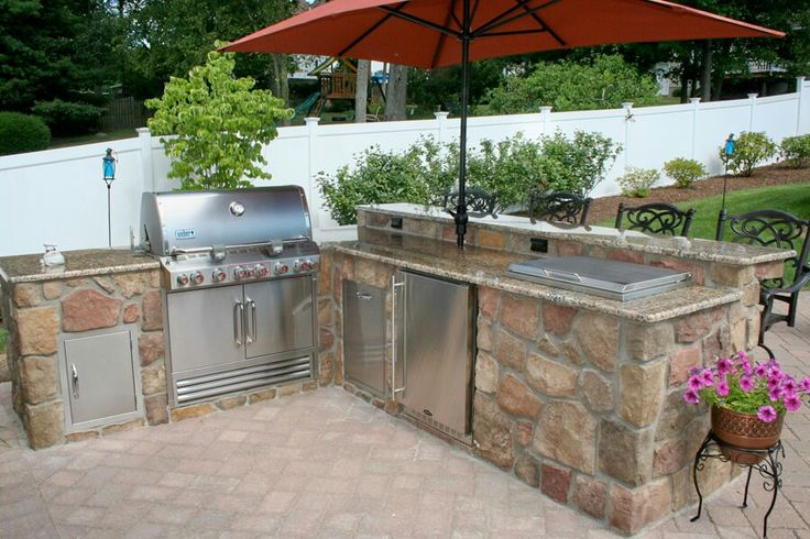 Jazz up a boring yard with a built in barbecue area. Perfect for entertaining.