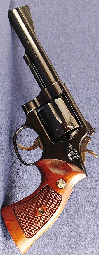 Smith and Wesson K-38 Combat Masterpiece Classic with S & W target presentation grips. Please Visit our Store for S&W custom grips: http://stores.ebay.com/gce-sports