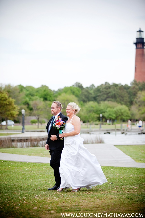 Whalehead Club Wedding Corolla Bride Dad Outer Banks