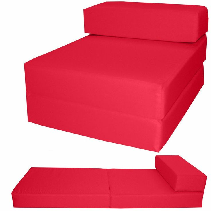 RED FRESCO Chair Guest Z bed Fold Out Matteress Kids Waterproof Chairbed Single