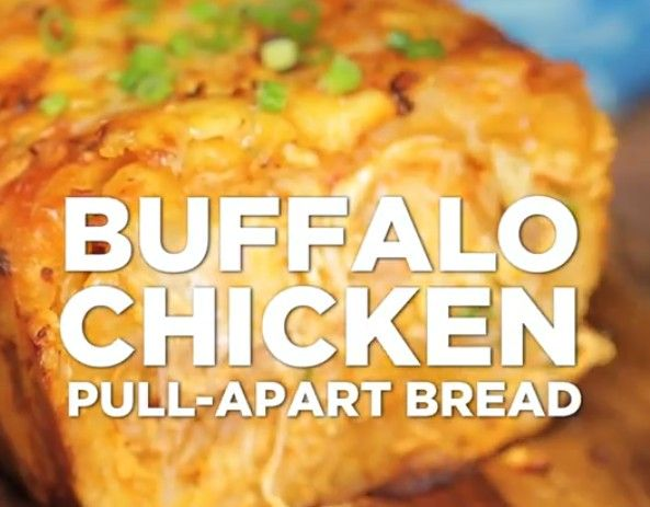 Easy Buffalo Chicken Pull Apart Bread