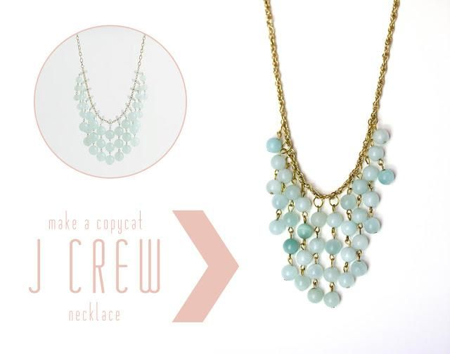 DIY Tutorial: DIY J.Crew Inspired Jewelry / DIY J Crew Necklace - Bead