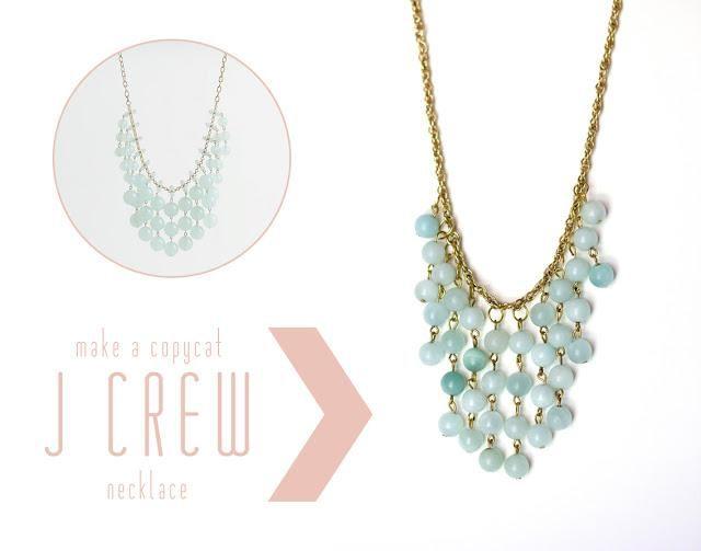 DIY Tutorial: DIY J.Crew Inspired Jewelry / DIY J Crew Necklace - Bead