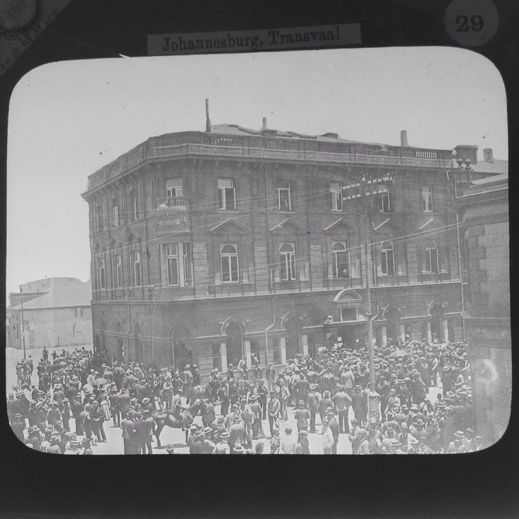 Magic Lantern Slide Transvaal War Seat Of Provisional Government South Africa