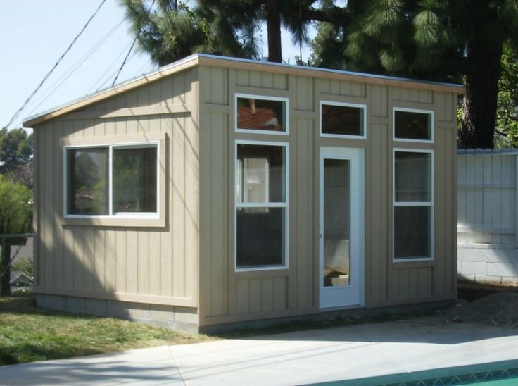 866.767.4337 | Contact Us! Studio Shed The Studio Shed is a popular modern looking shed similar in shape to your Lean To model. This shed is characterized by the transom windows up high across the front along with the French door creating a light airy look and feel. Included in the standard design is a …