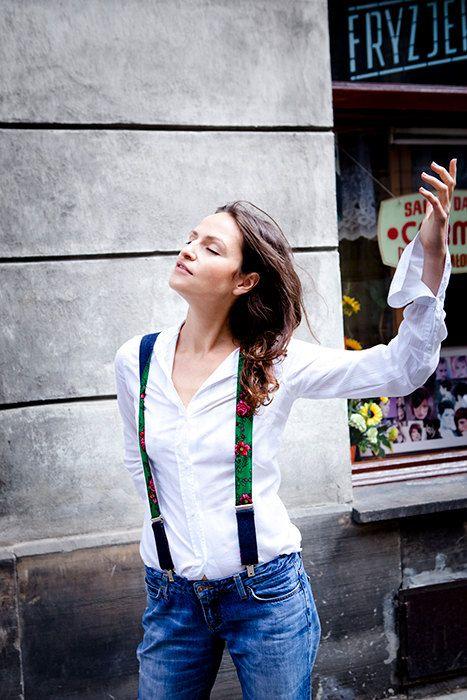 Women Suspenders Green Women Suspenders Patterned от baboshkaa