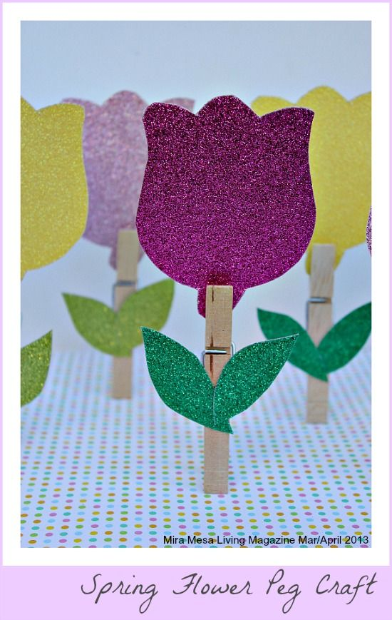 Spring Flower Peg Craft