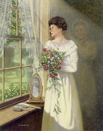 James Lumbers - 'The Locket'  ...The wedding dress and locket have been passed down for several generations, and the young bride contemplates those before her, as well as her own upcoming ceremony...