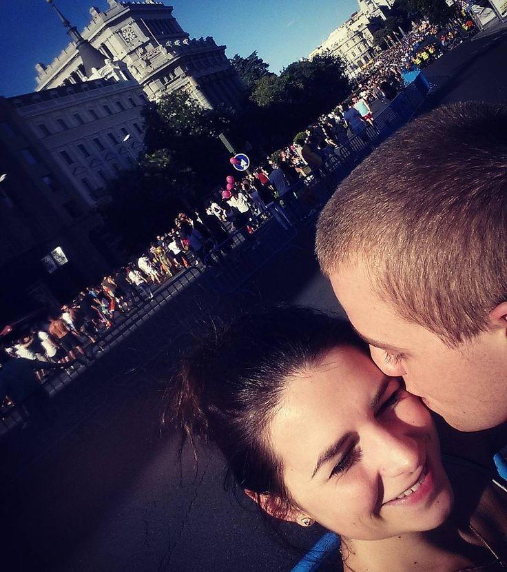 I love him! #madrid #couple #couplegoals #polishgirlinspain #polishgirl #polishboy #holiday #it #engineer #holidaystarted #graduated #happy #happypeople #love #cute #worldparade #instagood #blogger  #travelers #instamood #happygirl #kiss