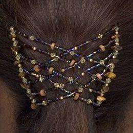 Hair Zing - Criss Cross Rainbow with Wood
