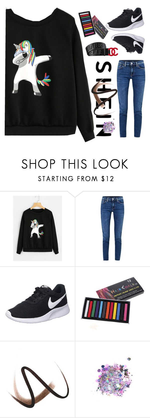 """unicorn"" by young-and-freeeee on Polyvore featuring Acne Studios, NIKE, Gucci, My Makeup Brush Set, Burberry and The Gypsy Shrine"