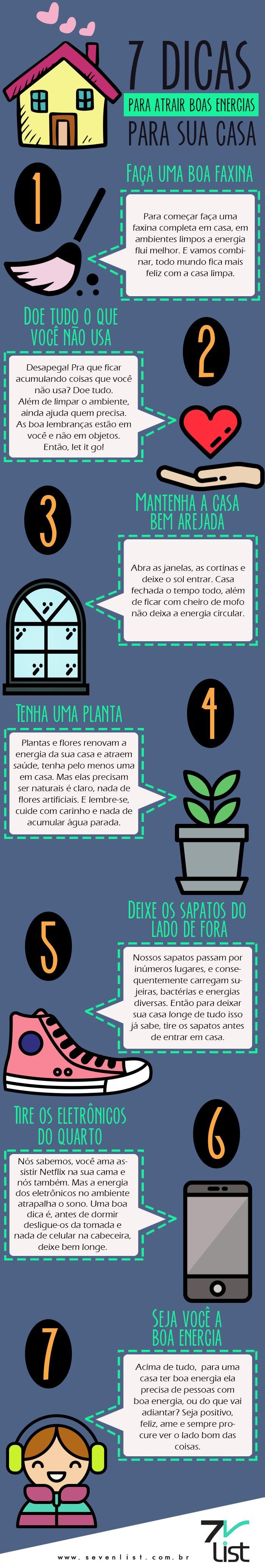 #Infográfico #Casa #Dicas #BemEstar #Paz #Saúde #Cuidados #Lifestyle #Goodvibes…