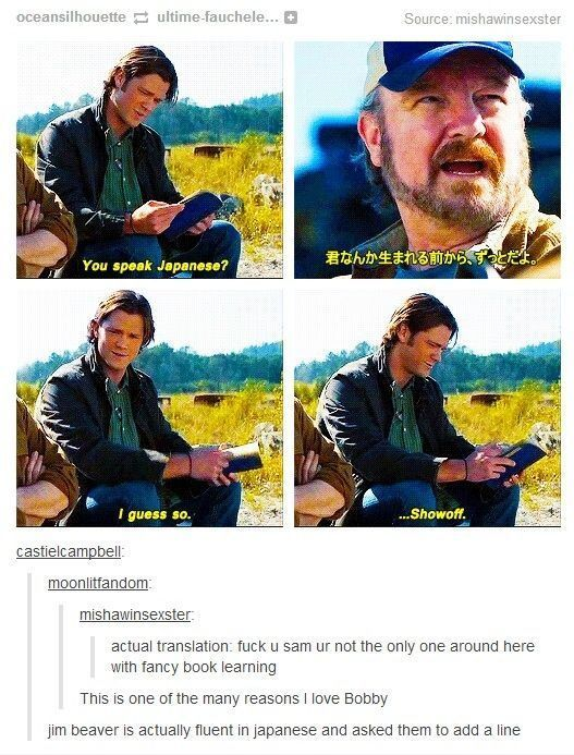 Bobby Singer Supernatural -- more proof that you can say whatever you want in…