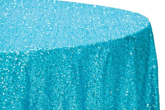 Turquoise Sequin Tablecloth,  Turqoise Sequin Tablecloth, Blue Sequin, Frozen, Dessert Table,  Spring, Summer Wedding, beach wedding