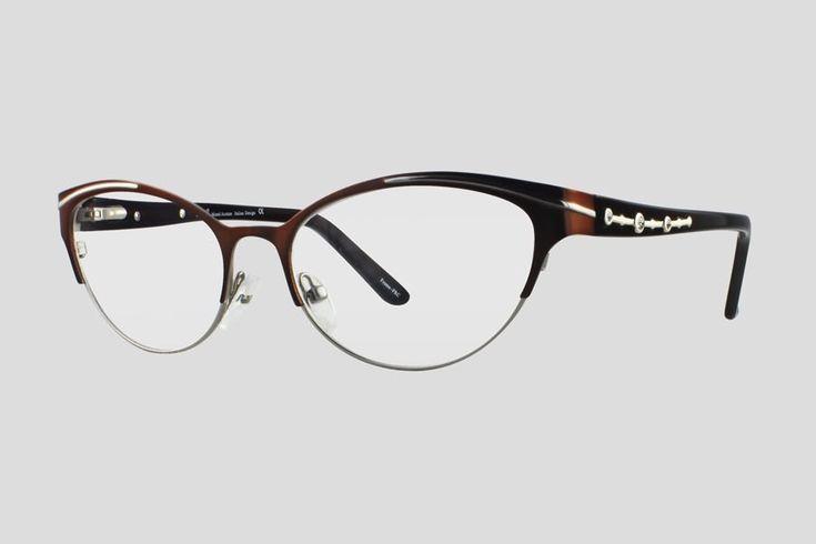 #Brillen van Nisi. Dit is de Charley Noble (art. nr. F10.712FBR), complete bril vanaf € 34,90. #Montuur van bruin monel en acetaat. Verkrijgbaar in meerdere kleuren.