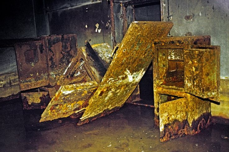 Hitler's bunker: Conrad shot these rusting metal safes at ...