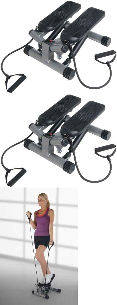 Stamina Twist Stepper with Upper Body, Step up and down with a side to side twisting action to tone buttocks, thighs, and legs.