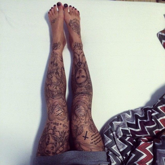 awesome leg tattoos for girls
