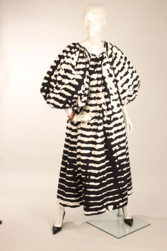 Vtg 80s Vuokko Nurmesniemi Marimekko Designer Tent Shape Dress s M | eBay
