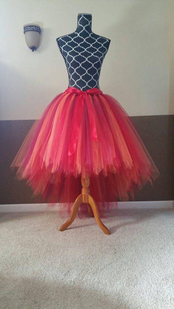 e12384429d HI-LO tutu skirt** Fairy tutu/ Fully LINED red wine orange Tutu/ Adult tutu  fairy cut edge (33 color