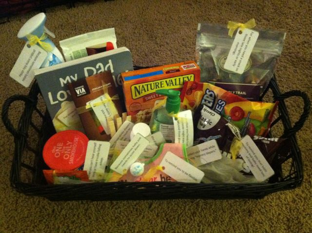 Gift basket for daddy to be