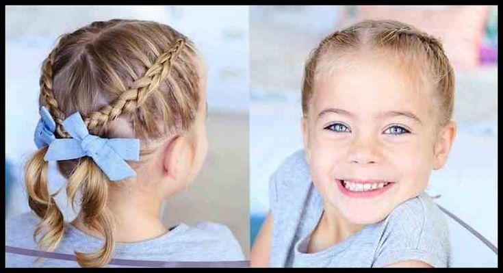Einfaches Frisuren für kleine Mädchen, die 2 Minuten oder weniger …