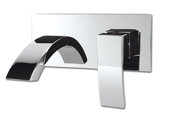 Rubi Fall wall mounted basin faucet