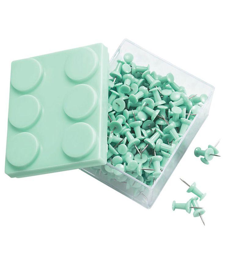 FOR SALE | MINT School Supplies, Push Pins Thumb Tacks Bulletin Board Desk Accessories Mint Blue Mint Green Mint Color Seafoam Green