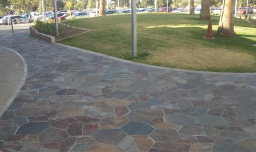 Flagstone crazy paving is a great new look for your driveway.