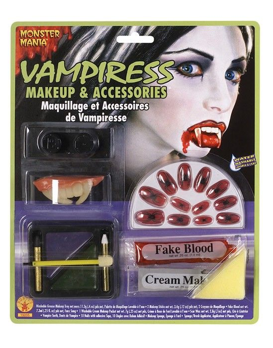 This horror women's vampire makeup kit contains everything you need to turn your…