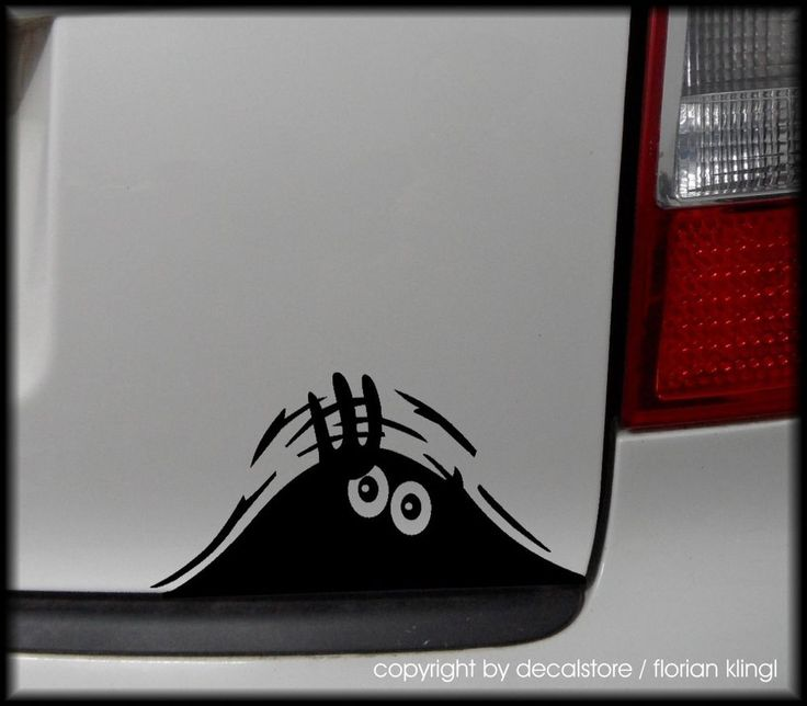 1x liebes Monster Autoaufkleber Tuning Fun Sticker Aufkleber Auto lustig Shocker