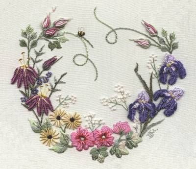 Garden Party Brazilian dimensional embroidery pattern