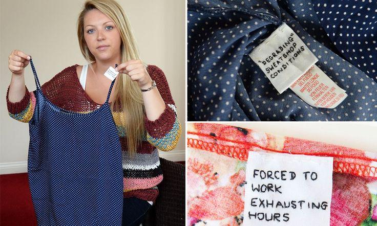 Labels found in Primark dresses allege 'sweatshop conditions'