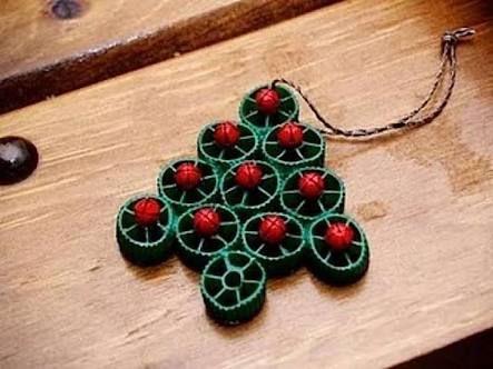 Výsledek obrázku pro decorazioni albero natale fai da te con i cotton fioc