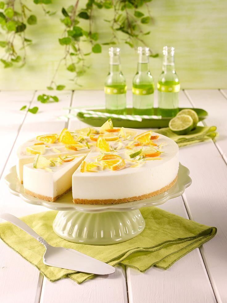 cremige Torte ohne Backen mit vegetarischem Geliermittel