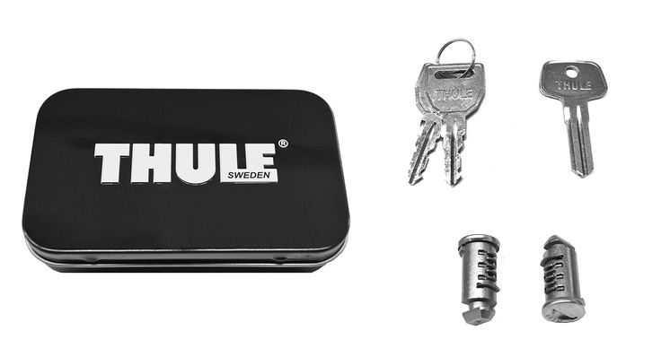 Thule 512 Lock Cylinders for Car Racks (2-Pack). Thule 2 Pack Lock Set. Thule One-Key Lock System compatible for Thule racks and accessories. What's in the box? 2 keyed alike locks cylinders, one pair matching keys and installation key. Limited Lifetime Warranty. Replacement cylinders and keys, sold separately on Thule.com.