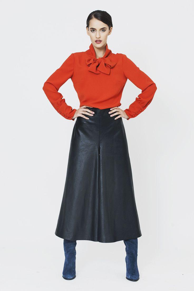 Fusta pantalon piele ecologica - Skirts