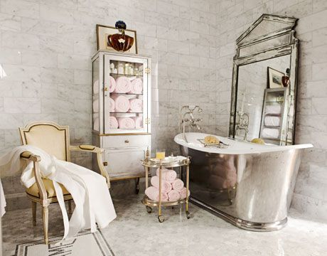 French Hotel ChicDecor, Bathroom Design, Mirrors, French Bathroom, Vintage Bathroom, Shabby Chic, Bathtubs, Dreams Bathroom, House