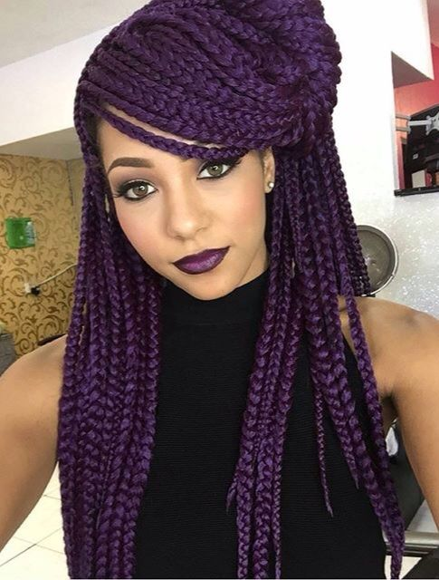 ***Try Hair Trigger Growth Elixir*** ========================= {Grow Lust Worthy Hair FASTER Naturally with Hair Trigger} ========================= Go To: www.HairTriggerr.com ========================= Purple Eggplant Colored Box Braids                                                                                                                                                      More